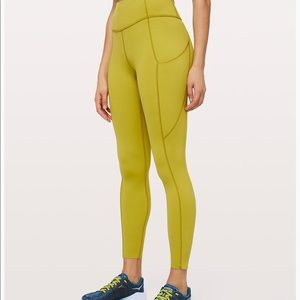 "Lululemon Fast and Free Tight II 25"" Golden Lime 6"